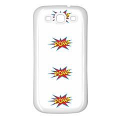 Boom Pow Pop Sign Samsung Galaxy S3 Back Case (white) by Alisyart