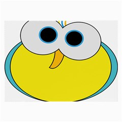Bird Big Eyes Yellow Large Glasses Cloth by Alisyart
