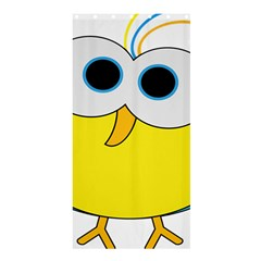 Bird Big Eyes Yellow Shower Curtain 36  X 72  (stall)  by Alisyart