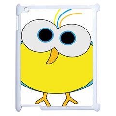 Bird Big Eyes Yellow Apple Ipad 2 Case (white) by Alisyart