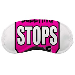Bullying Stops Here Pink Sign Sleeping Masks by Alisyart