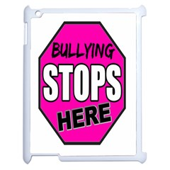 Bullying Stops Here Pink Sign Apple Ipad 2 Case (white) by Alisyart