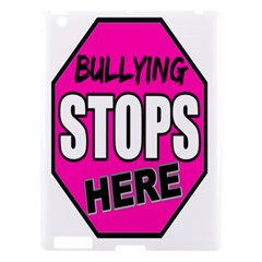 Bullying Stops Here Pink Sign Apple Ipad 3/4 Hardshell Case by Alisyart