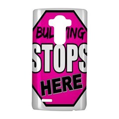 Bullying Stops Here Pink Sign Lg G4 Hardshell Case by Alisyart