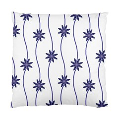 Geometric Flower Seamless Repeating Pattern With Curvy Lines Standard Cushion Case (one Side) by Simbadda