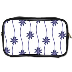 Geometric Flower Seamless Repeating Pattern With Curvy Lines Toiletries Bags 2 Side by Simbadda
