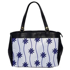 Geometric Flower Seamless Repeating Pattern With Curvy Lines Office Handbags by Simbadda