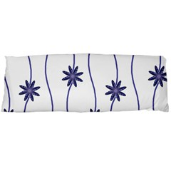Geometric Flower Seamless Repeating Pattern With Curvy Lines Body Pillow Case (dakimakura) by Simbadda