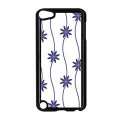 Geometric Flower Seamless Repeating Pattern With Curvy Lines Apple Ipod Touch 5 Case (black) by Simbadda