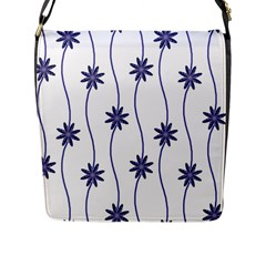 Geometric Flower Seamless Repeating Pattern With Curvy Lines Flap Messenger Bag (l)  by Simbadda