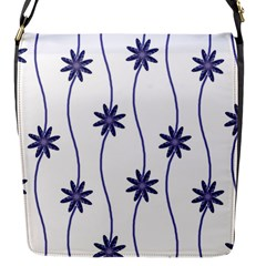 Geometric Flower Seamless Repeating Pattern With Curvy Lines Flap Messenger Bag (s) by Simbadda