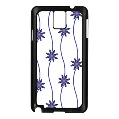 Geometric Flower Seamless Repeating Pattern With Curvy Lines Samsung Galaxy Note 3 N9005 Case (black) by Simbadda