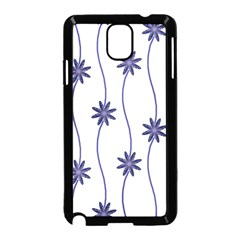 Geometric Flower Seamless Repeating Pattern With Curvy Lines Samsung Galaxy Note 3 Neo Hardshell Case (black) by Simbadda