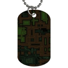 Circuit Board A Completely Seamless Background Design Dog Tag (two Sides) by Simbadda