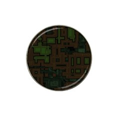 Circuit Board A Completely Seamless Background Design Hat Clip Ball Marker by Simbadda