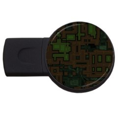 Circuit Board A Completely Seamless Background Design Usb Flash Drive Round (4 Gb) by Simbadda