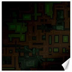 Circuit Board A Completely Seamless Background Design Canvas 20  X 20   by Simbadda