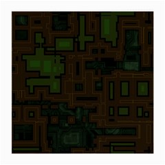 Circuit Board A Completely Seamless Background Design Medium Glasses Cloth (2 Side) by Simbadda