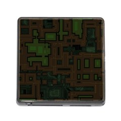 Circuit Board A Completely Seamless Background Design Memory Card Reader (square) by Simbadda