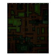 Circuit Board A Completely Seamless Background Design Shower Curtain 60  X 72  (medium)  by Simbadda