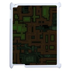 Circuit Board A Completely Seamless Background Design Apple Ipad 2 Case (white) by Simbadda
