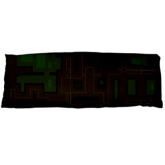 Circuit Board A Completely Seamless Background Design Body Pillow Case Dakimakura (two Sides) by Simbadda