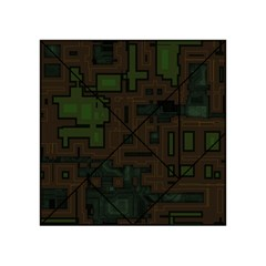 Circuit Board A Completely Seamless Background Design Acrylic Tangram Puzzle (4  X 4 ) by Simbadda