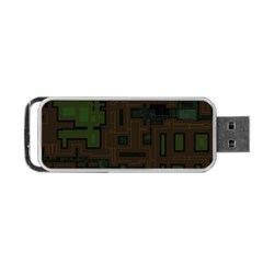 Circuit Board A Completely Seamless Background Design Portable Usb Flash (two Sides) by Simbadda