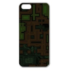 Circuit Board A Completely Seamless Background Design Apple Seamless Iphone 5 Case (clear) by Simbadda