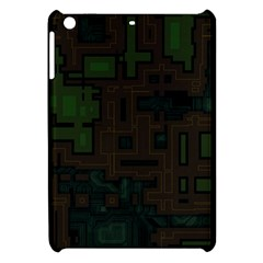 Circuit Board A Completely Seamless Background Design Apple Ipad Mini Hardshell Case by Simbadda