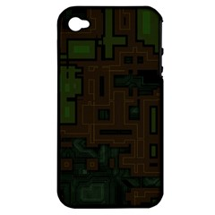 Circuit Board A Completely Seamless Background Design Apple Iphone 4/4s Hardshell Case (pc+silicone) by Simbadda