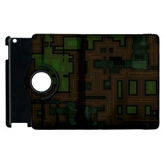 Circuit Board A Completely Seamless Background Design Apple Ipad 2 Flip 360 Case by Simbadda