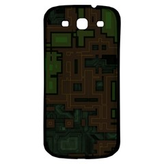 Circuit Board A Completely Seamless Background Design Samsung Galaxy S3 S Iii Classic Hardshell Back Case by Simbadda