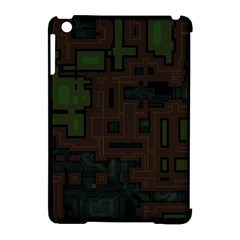 Circuit Board A Completely Seamless Background Design Apple Ipad Mini Hardshell Case (compatible With Smart Cover) by Simbadda