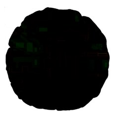 Circuit Board A Completely Seamless Background Design Large 18  Premium Round Cushions by Simbadda