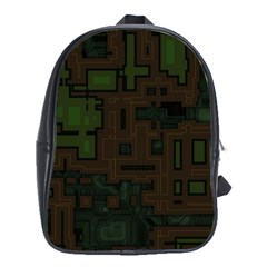 Circuit Board A Completely Seamless Background Design School Bags (xl)  by Simbadda