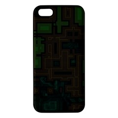 Circuit Board A Completely Seamless Background Design Iphone 5s/ Se Premium Hardshell Case by Simbadda