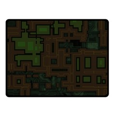 Circuit Board A Completely Seamless Background Design Double Sided Fleece Blanket (small)  by Simbadda