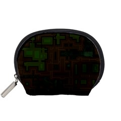 Circuit Board A Completely Seamless Background Design Accessory Pouches (small)  by Simbadda