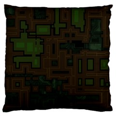 Circuit Board A Completely Seamless Background Design Standard Flano Cushion Case (two Sides) by Simbadda