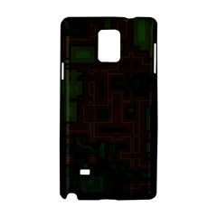 Circuit Board A Completely Seamless Background Design Samsung Galaxy Note 4 Hardshell Case by Simbadda