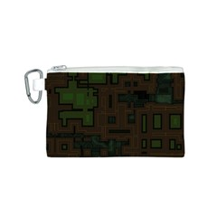 Circuit Board A Completely Seamless Background Design Canvas Cosmetic Bag (s) by Simbadda