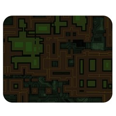 Circuit Board A Completely Seamless Background Design Double Sided Flano Blanket (medium)  by Simbadda