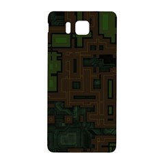 Circuit Board A Completely Seamless Background Design Samsung Galaxy Alpha Hardshell Back Case by Simbadda