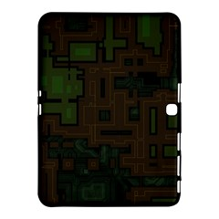 Circuit Board A Completely Seamless Background Design Samsung Galaxy Tab 4 (10 1 ) Hardshell Case  by Simbadda