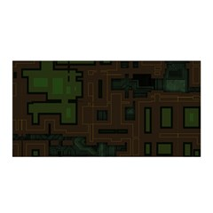 Circuit Board A Completely Seamless Background Design Satin Wrap by Simbadda