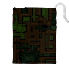 Circuit Board A Completely Seamless Background Design Drawstring Pouches (xxl) by Simbadda