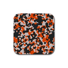 Camouflage Texture Patterns Rubber Square Coaster (4 Pack)  by Simbadda