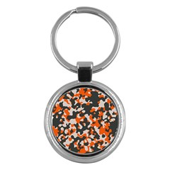 Camouflage Texture Patterns Key Chains (round)  by Simbadda