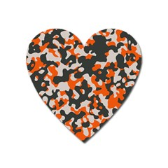 Camouflage Texture Patterns Heart Magnet by Simbadda